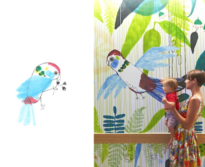 Jane Reiseger drawing for Royal Children's Hospital