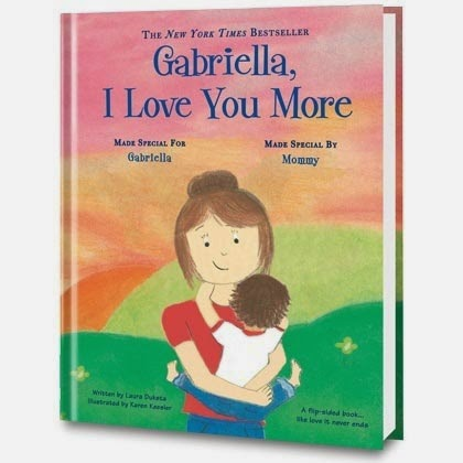 i love you more personalized book cover