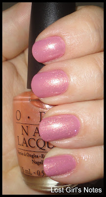 OPI sparrow me drama and peach-a-boo