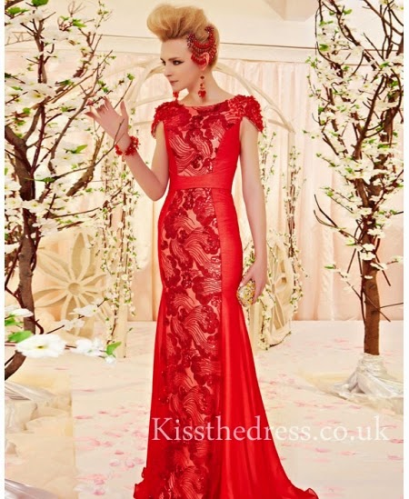 Red Long Prom Dresses For Christmas  and price in UK
