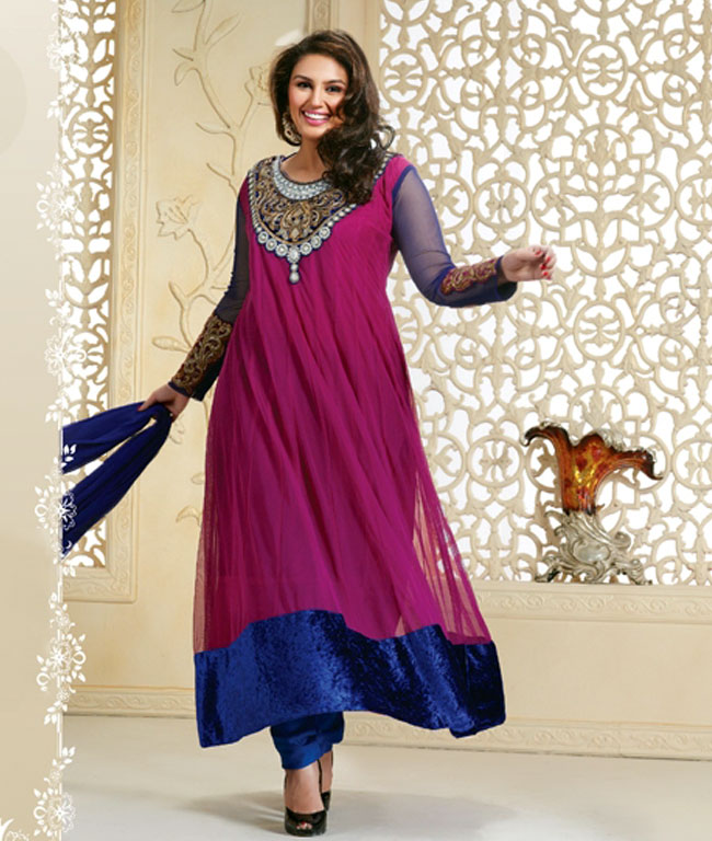 Huma Qureshi in Eid Special Latest Designs Anarkali Suits ...