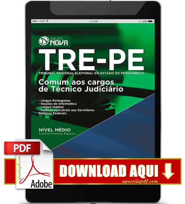 Apostila TRE PE 2015 PDF Download Técnico Judiciário
