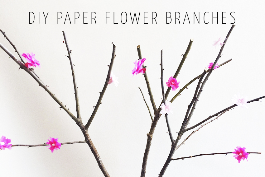 Diy paper flower branches mightylinksfo