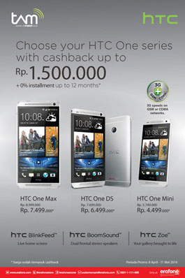 Trio Smartphone HTC One Series Banting Harga
