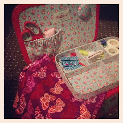 cath kidston floral sewing box