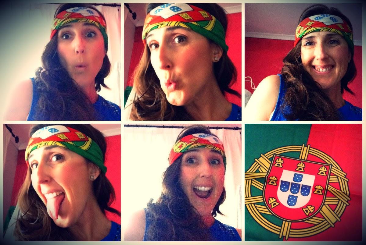 Por aqui também estamos com PORTUGAL!!!!
