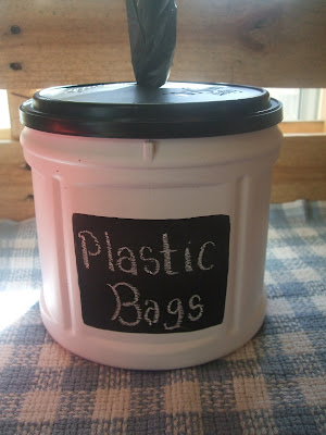 homemade plastic bag container