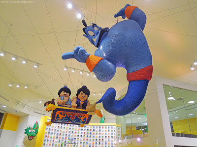 Lego Store Disneyland Downtown Disney Genie Aladdin model