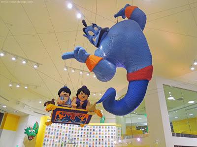 Lego Store Disneyland Downtown Disney Genie Aladdin model
