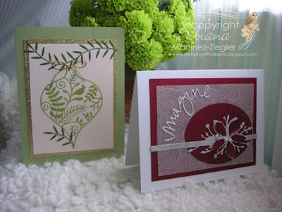 christmas red and green cards fronts