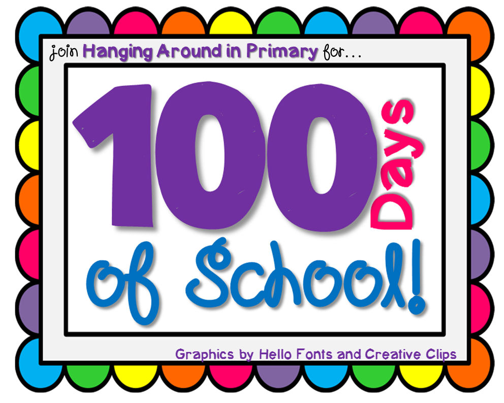 100th Day of School Border to The 100th Day of School