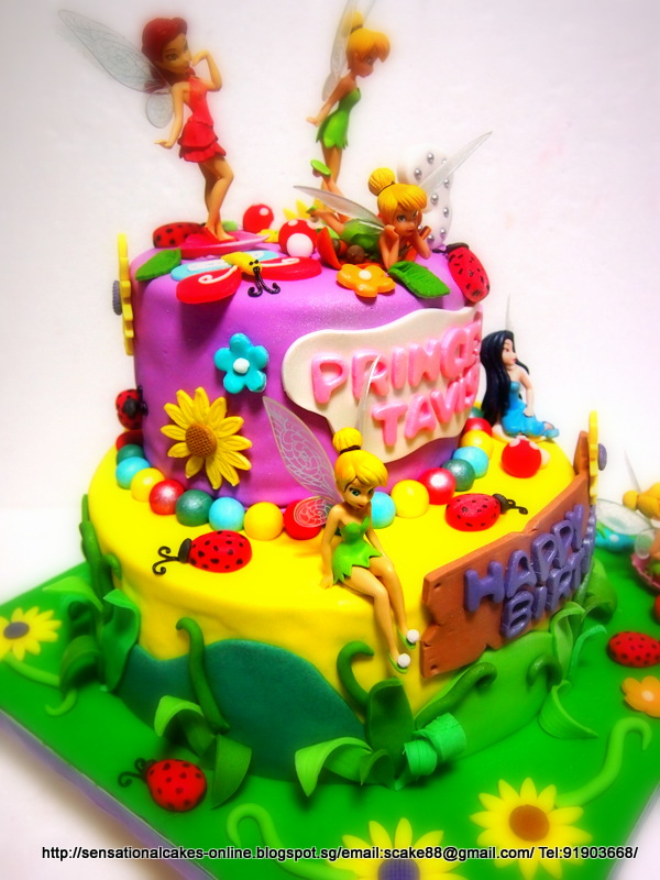 The Sensational Cakes: Fairies Garden Theme Cake Singapore ... on baby ladybug cake, diy ladybug cake, christmas ladybug cake, green ladybug cake,