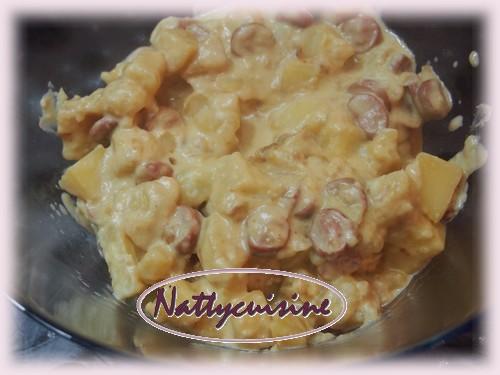 Nattycuisine pomme de terre cheddar saucisses ma fa on cook o - Oignon sous le lit combien de temps ...