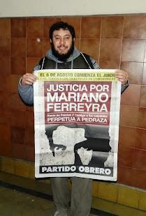 JUAN RUBOLINO, ESTUDIANTE DE HISTORIA, MILITANTE PO-UJS, TAMBIÉN PIDE JUSTICIA POR MARIANO