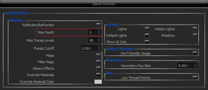 option global switches vray sketchup