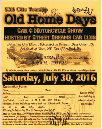 7-30 Old Home Days Otto Township