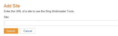 add site bing webmaster