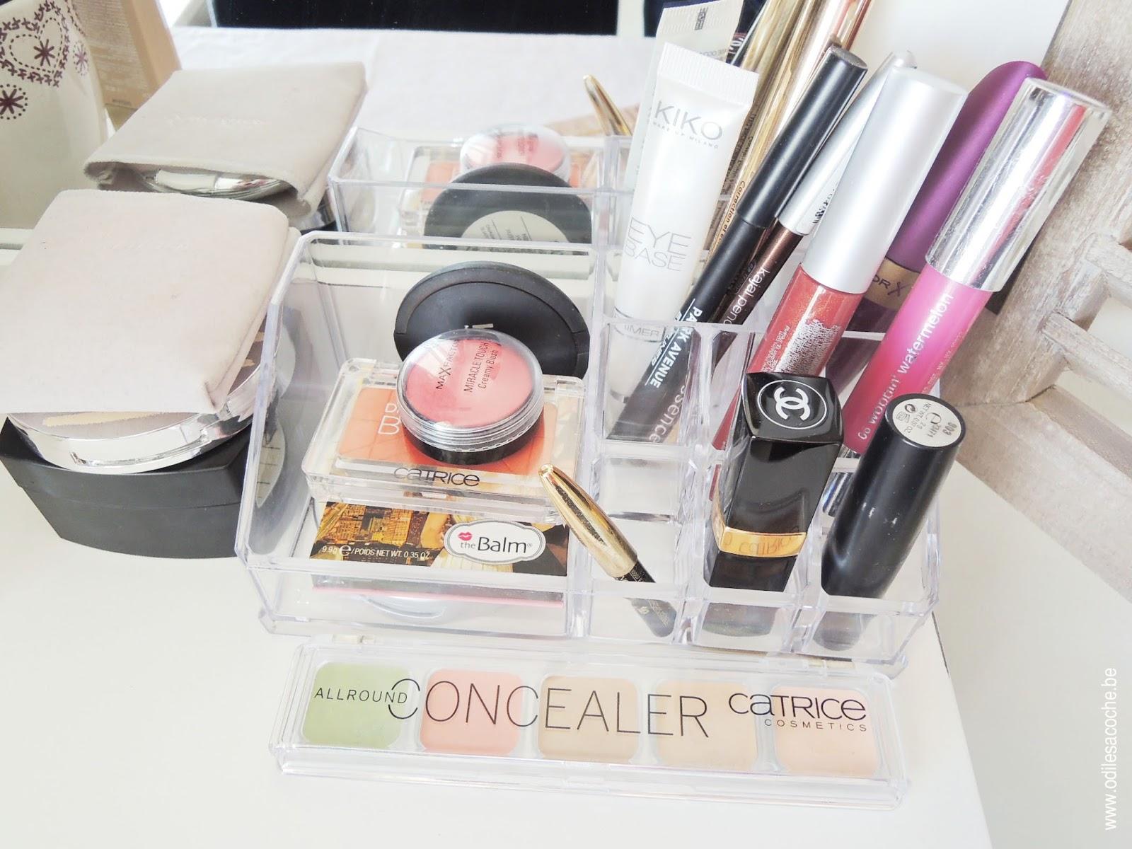 rangement maquillage bureau