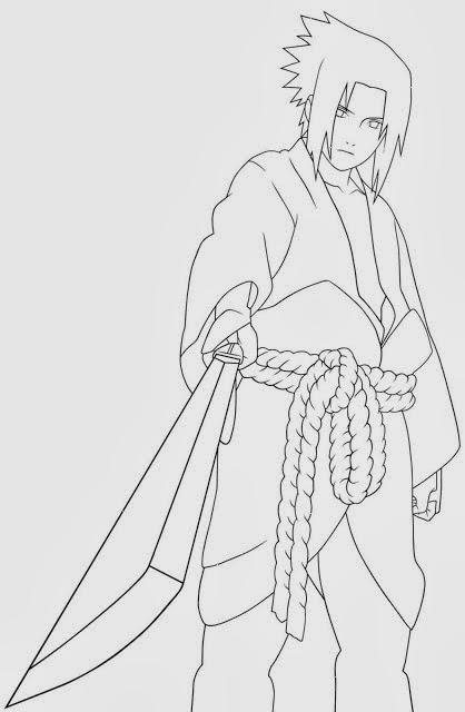imagens para colorir do naruto shippuden - Naruto para colorir Desenhos para Colorir