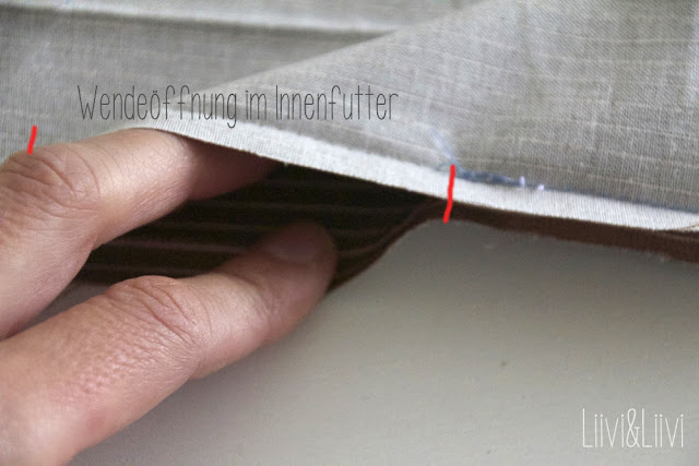 Wäschesack Stoffbeutel Nähanleitung Schnittmuster