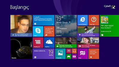 Windows 8.1 Başlangıç Ekranı