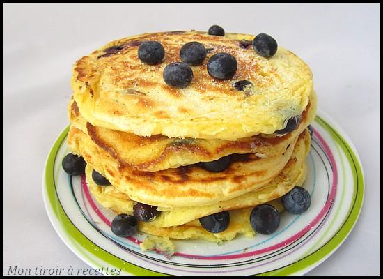 pancakes maisons myrtilles