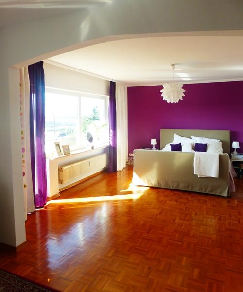Schlafzimmer Lila Purple Violett Dekoration