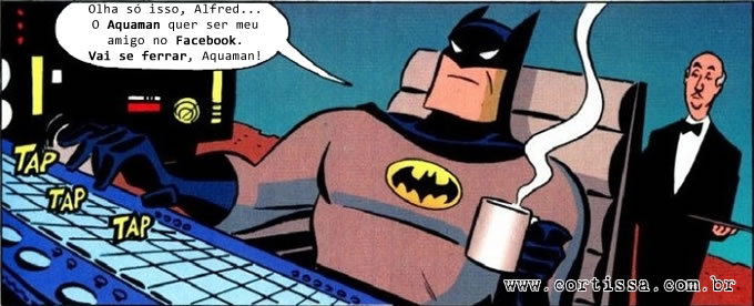 Batman entrou no Facebook