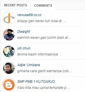 Cara Pasang Widget Recent Comments + Gravatar Di Blogger