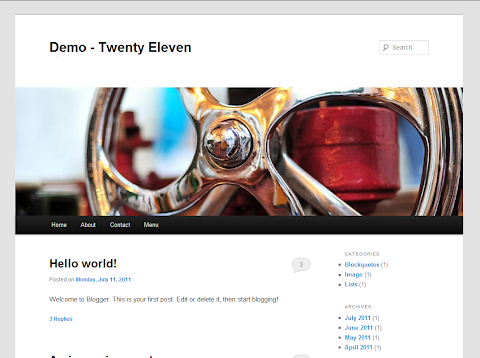 Twenty Eleven Blogger Theme