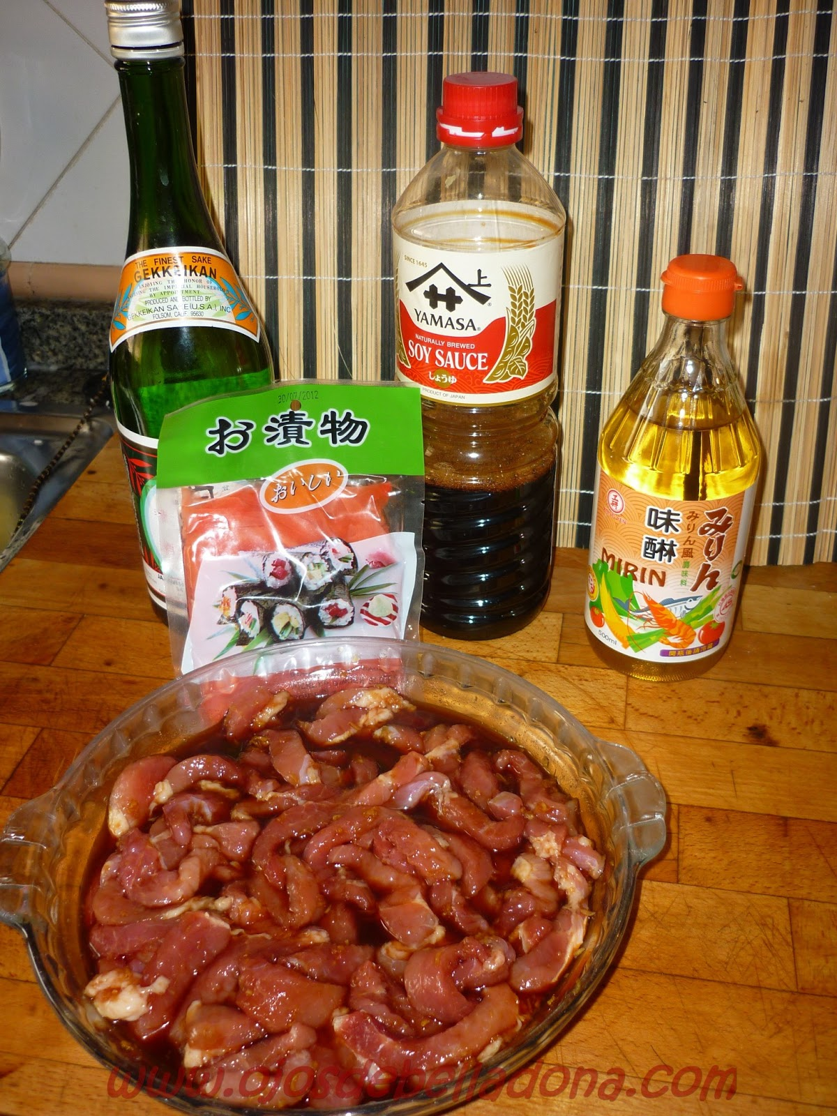 Ingredientes Cerdo al Jengibre