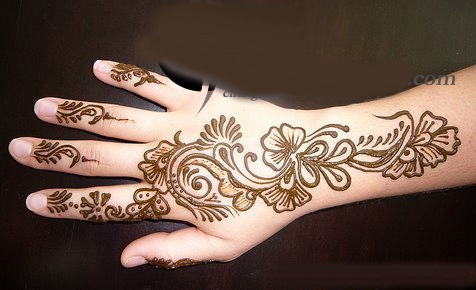 Mehndi Patterns For Small Hands : Mehndi style arabic designs for eid