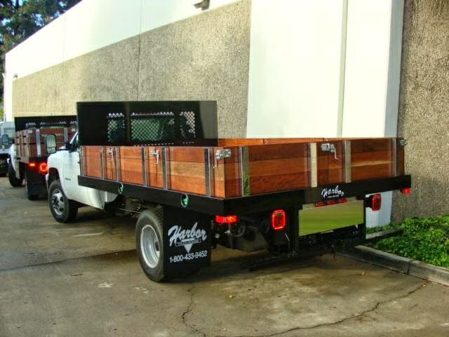 This Chevy Dually Sports A Harbor Flatbed With Full Width Headboard And Low Style Contractor Wooden Gates The Removable Allow For Easy Loading