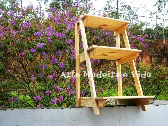 floreira em madeira