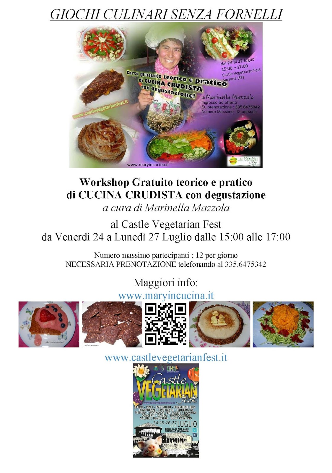 Giochi di cucina senza fornelli al castle vegetarian fest - Giochi di cucina a livelli ...