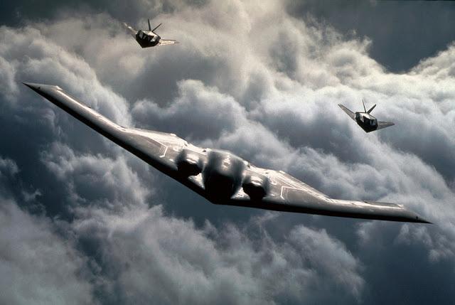 F-117 Nighthawk and B-2