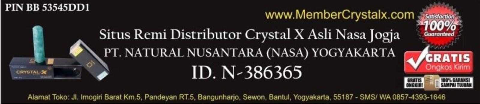 Jual Crystal X Asli dengan Harga Distributor