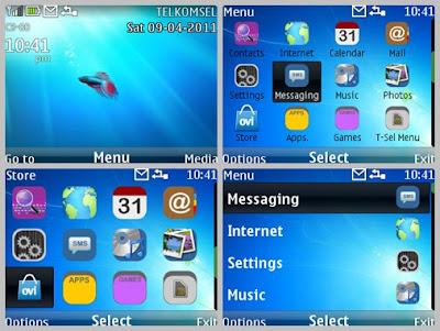 Windows7 image theme for Nokia Asha 302 Asha 200 Asha 201 C3-00 X2-01