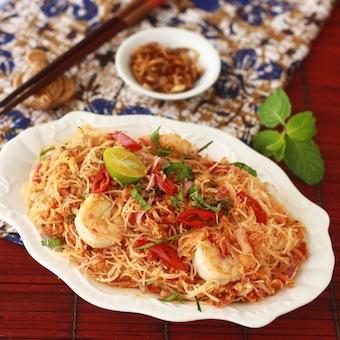 kerabu meehoon recipe with bunga kantan spice