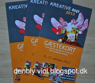 """Gæstekort til Fredericia Messen """"Kreative dage"""""""