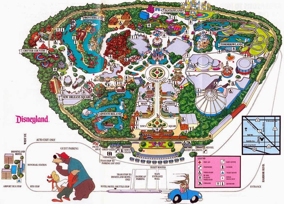 Disney Avenue Disneyland Map Evolution 1955 2015