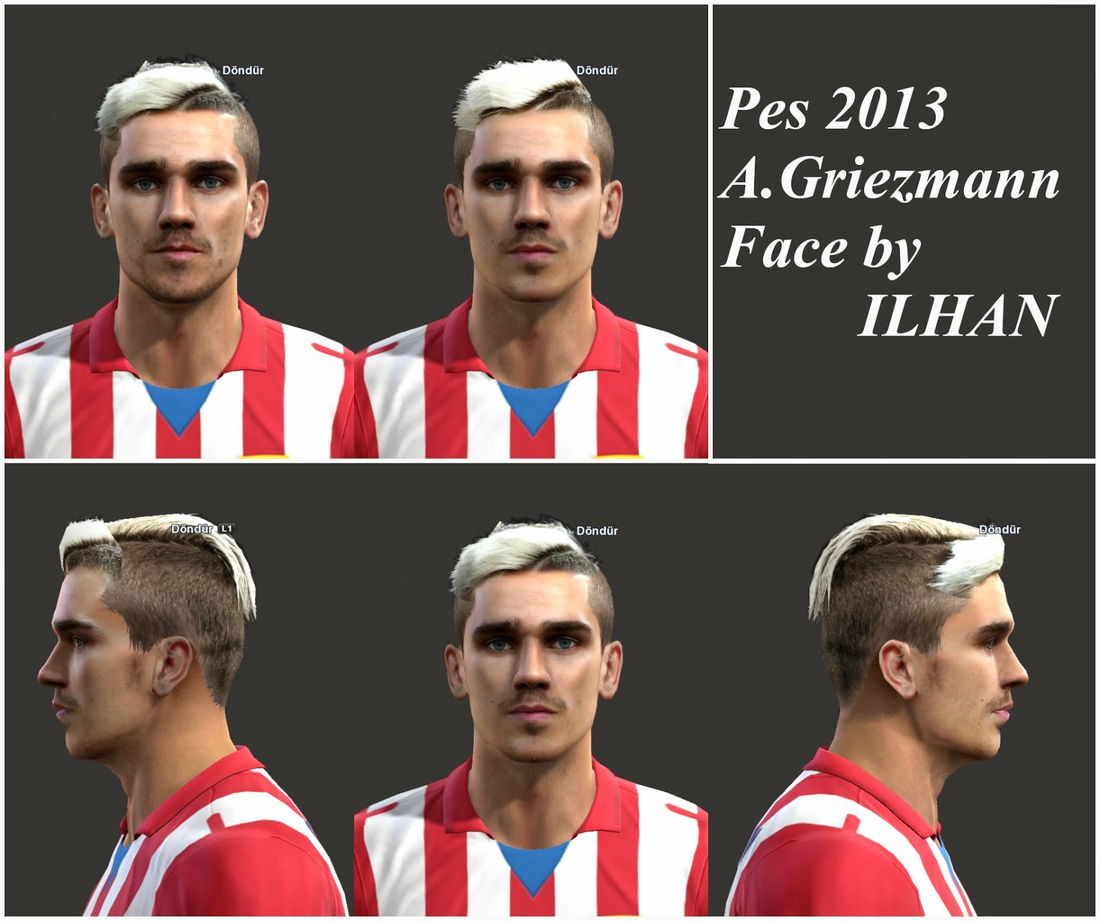 Ultigamerz Pes 2010 Pes 2011 Face: PES-MODIF: Pes 2013 A.Griezmann Face By Ilhan