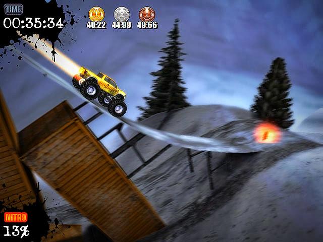 لعبة الشاحنات الكبيرة Monster Trucks Nitro