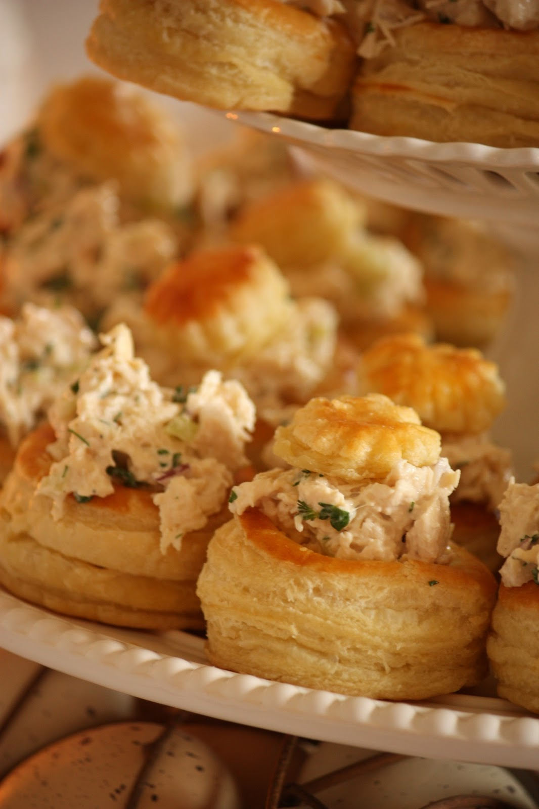 HERBED CHICKEN SALAD IN PUFF PASTRY CUPS - StoneGable