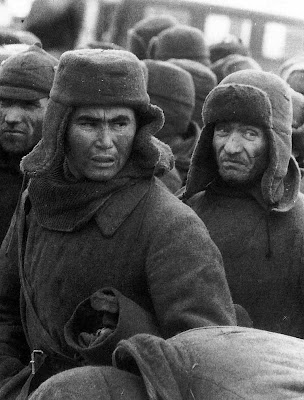 Tawanan rusia yang ditangkap di dekat vyazma, oktober 1941