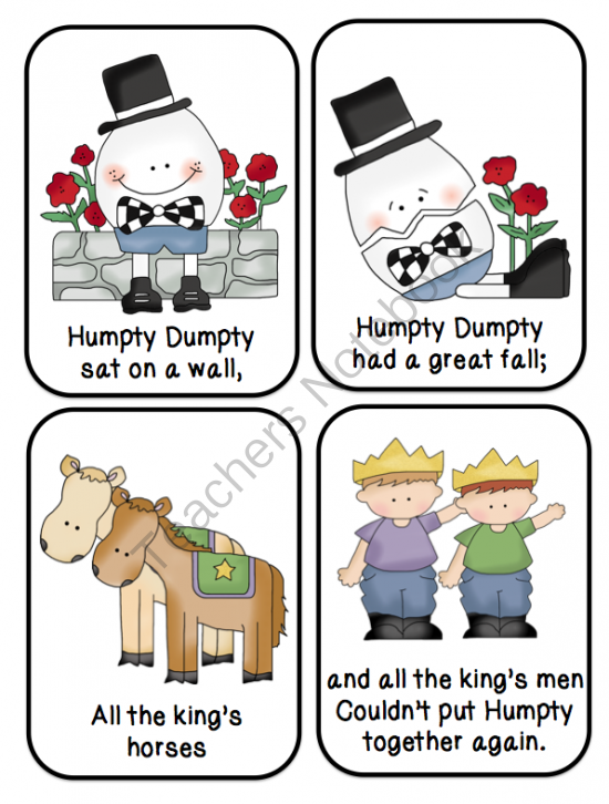 Humpty Dumpty Printable ~ Preschool Printables