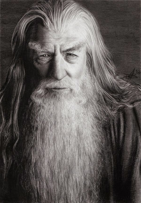 08-Gandalf-the-Grey-LOTR-The-Hobbit-Daisy-van-den-Berg-How-To-Draw-a-Realistic-www-designstack-co