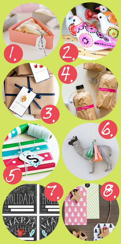 Pretty Packaging Gift Wrap DIY and Printable Gift Tags