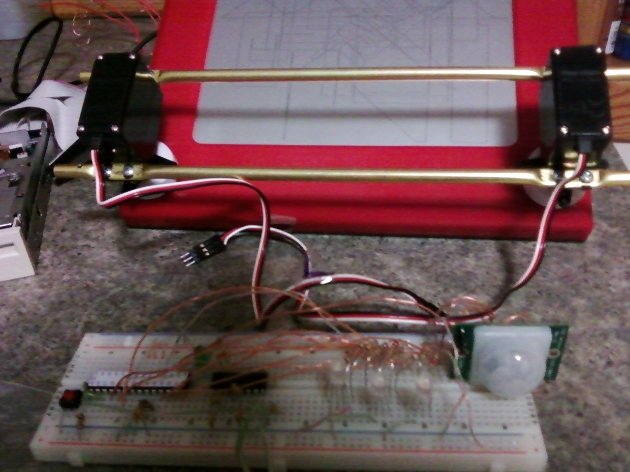 Toys for Bots Arduino controlled etch-a-sketch