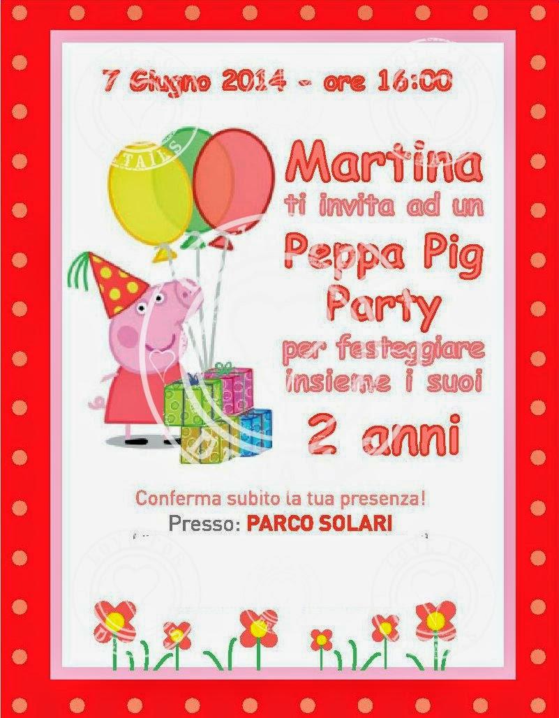 Invito festa peppa pig